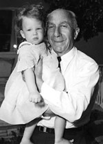 Toddler Cass with Grampa Harry